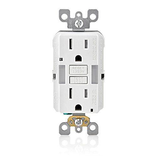 Leviton Gfci Wiring - Leviton GFNL1-W R02-Gfnl1-00W Self-Test Tamper Duplex Gfci Receptacle With Guide Light, 125 V, 15 A A, Amp, White