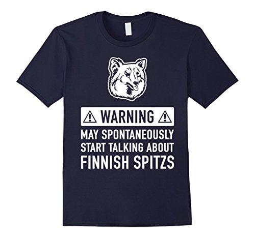Mens Funny Finnish Spitz Dog Owner T-shirt Gift Idea Medium Navy