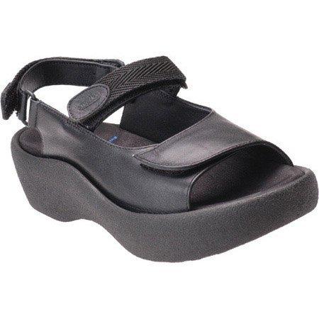 Wolky Comfort Sandalen Juweel Leer Zwart