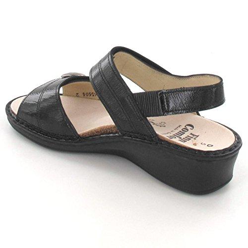 FINNCOMFORT - Sandalias de vestir de charol para mujer negro
