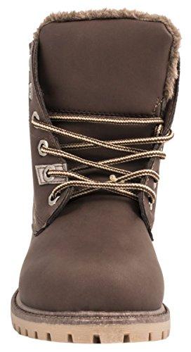Brown Mujer nieve Brown botas de Elara 1qaF7w
