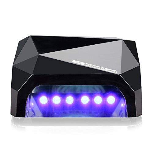 Perfect Summer Professional 36W UV LED Light Nail Dryer Curing Lamp for Gel Nail Polish -Classic Black (Uv Lamp Professional Nail Dryer compare prices)
