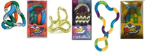 Set of 3 Assorted Tangle Jr. Fidget Toys - Original, Metallic and Textured by Tangle