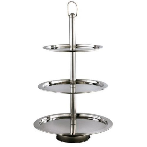 Elegance Silver 3 Tier Stand, 12'', 14'', 16''
