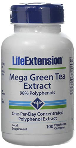 Life Extension Mega Green Tea Extract (98% Polyphenols) Decaffeinated, 100 Vegetarian - Accelerator Weight Loss