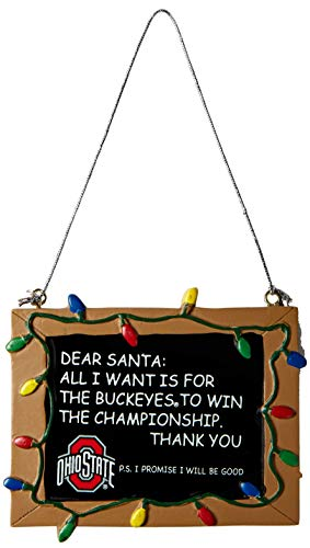 Ohio State Resin Chalkboard Sign Ornament