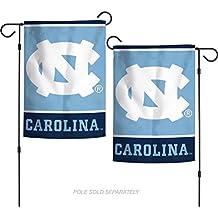 "NCAA University of North Carolina Tar Heels 12.5"" x 18"" Inch 2-Sided Garden Flag Logo"