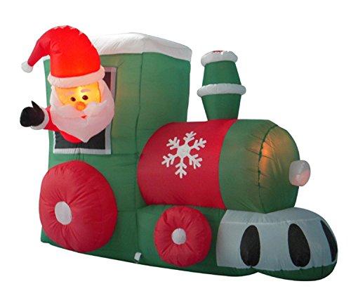 Outdoor Lighted Santa Train in US - 7