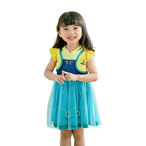 Dressy Daisy Princess Anna Dress for Baby Girls Halloween Fancy Party Costume Dress Size 12-24 Months