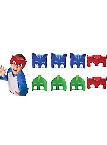PJ Masks Paper Masks (16 Count) Party Supply for 16 Kids. Kids Love