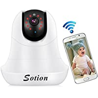 SOTION WiFi Wireless Internet Network IP Surveillance Security Video Camera System, Baby and Pet Monitor with Pan and Tilt, Two Way Audio & Night Vision