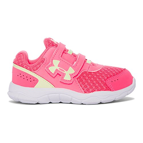 Under Armour Girls' Infant Engage 3 Adjustable Closure, Cerise/White/Lime Fizz, 9K M US Toddler
