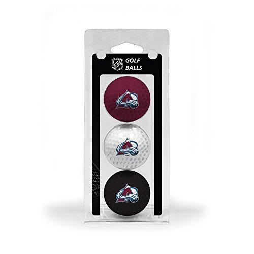 - Team Golf NHL Colorado Avalanche Regulation Size Golf Balls, 3 Pack, Full Color Durable Team Imprint