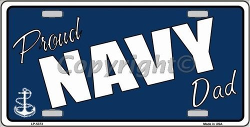 Proud Navy Dad Neuheit License Plate Tag Blonde Sign von Smart Blonde Tag 94624b