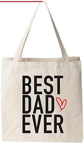 Best Dad Ever - Natural Cotton Canvas 12 Oz Reusable Tote Bag (11