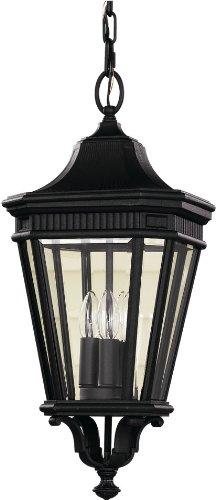 Feiss OL5411BK-LED Cotswold Lane LED Outdoor Lighting Pendant Lantern, Black, 1-Light (10