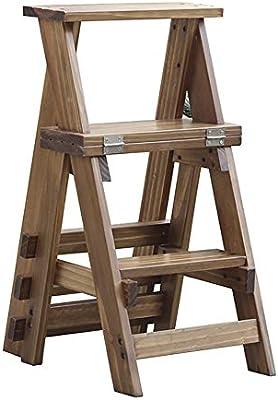 GQSHK 3 Pasos Escaleras Silla/Taburete Escalera de Tijera Plegable Escalera de Doble Uso Taburete Herramienta de jardín y Cocina Escalera Alta 34 × 44 × 68.5 cm Taburete Plegable Escalera: Amazon.es: Hogar