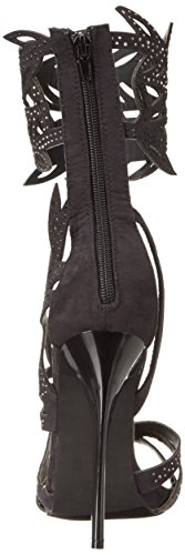 Glamor Women Lips Black 2 Sandal Gladiator Too Too qzdSg