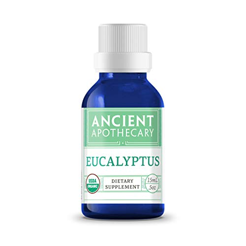 Eucalyptus Organic Essential Oil from Ancient Apothecary, 15 mL - Certified Organic, 100% Pure and Therapeutic Grade