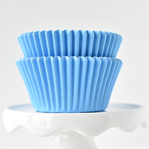 Solid Light Blue BakeBright Greaseproof Cupcake Liners