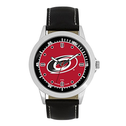 (NHL Carolina Hurricanes Mens Player Series Wrist Watch, Silver, One Size)