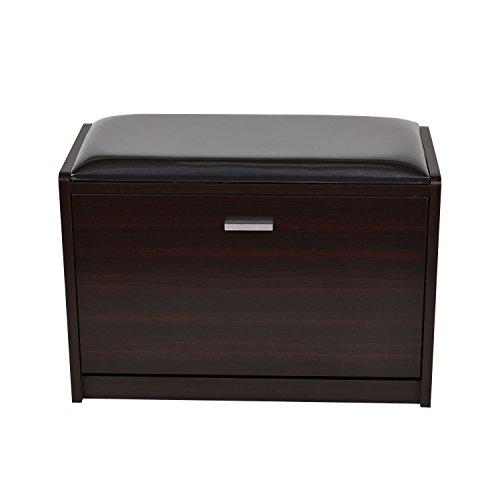 Wood Shoe Storage Bench Seat Ottoman Cabinet Closet Shelf Or