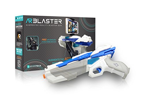 (AR Blaster - 360° Augmented Reality Video Game - Smart Phone Toy Gun Controller for iPhone & Android phones - Bluetooth 4.2 - for Boys and Girls, Kid's, Teens and Adults)