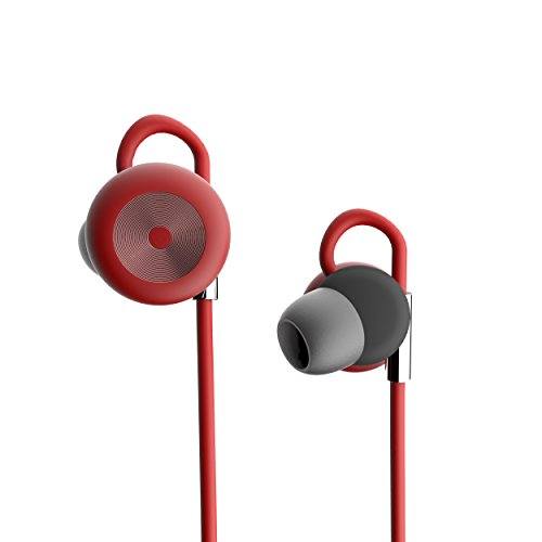 DOSS SP-02 Sport Bluetooth Headphones In-Ear Wireless Stereo Headphones, Bluetooth 4.1 Sweatproof for Running, Workout, Gym - Sports Earphones with Mic Hands-free [Red]