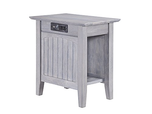 Atlantic Furniture AH13318 Nantucket Chair Side Table with Charger 22