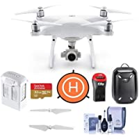 DJI Phantom 4 Advanced Quadcopter Drone with Remote Controller - Bundle With 32GB MicroSDHC Card, DJI Hardshell Backpack, Intelligent Battery, Propellers, Drone Landing Pad, Cleaning Kit, Card Reader