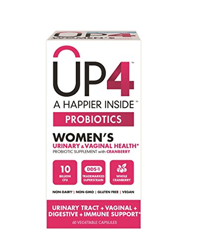 UP4 Probiotic Supplement for Women - Urinary Tract & Vaginal Health, Whole Cranberry – Digestive and Immune Support  - 10 Billion CFU – Non-GMO, Gluten Free, Vegan - 60 Capsules (Supplement Health Urinary)