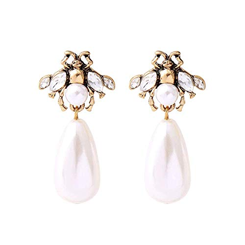 Shining Gems Bumble bee Pearl Fancy Earrings