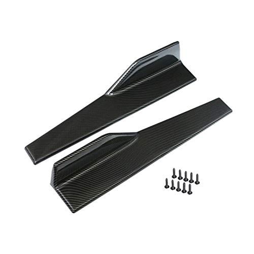 Car Side Skirt 2 pcs Car Universal Glossy Black Side Skirt Rocker Splitter Winglet Wings Canard Diffuser