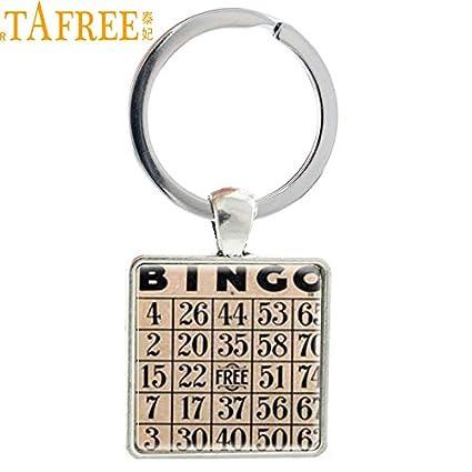 YPT - Llaveros de moda vintage para juego de bingo, tarjeta ...