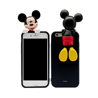 "Apple iPhone 6s Plus / 6 Plus 5.5"" Case, Authentic DISNEY Character Figure Premium Art Jelly Case by SkinPlayer Officially Licensed Case by Disney"