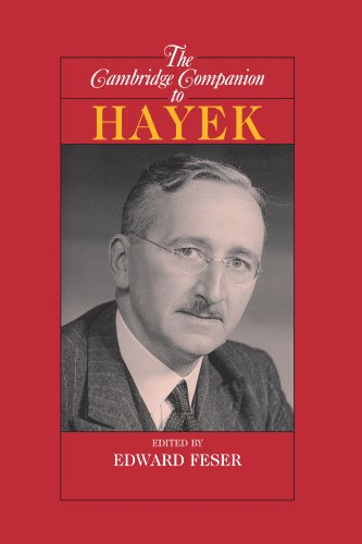 Book cover from The Cambridge Companion to Hayek (Cambridge Companions to Philosophy) by Edward Feser