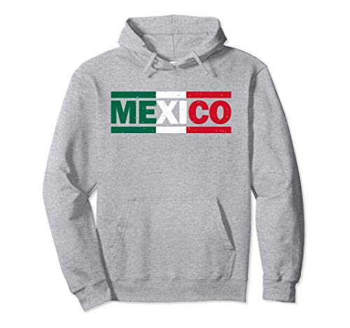 Unisex Mexico Hoodie - Patriotic Mexican Jersey Soccer Hoodie Large Heather Grey -