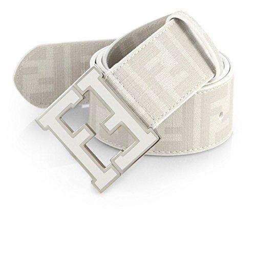 Men's Fendi Zucca white Belt (105cm waist 36-38) (Designer Belt)
