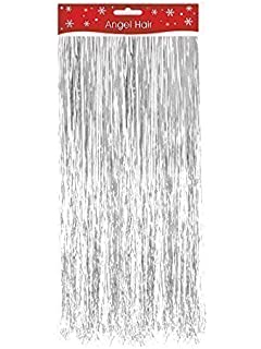 50cm Of Silver Shiny Lametta Strands Christmas Tree Party
