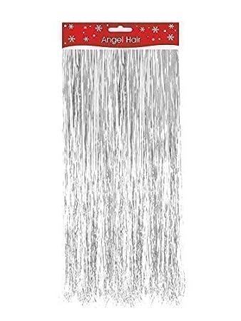 Silver Christmas Xmas Decoration Angel Hair Tinsel Shredded Tinsel ...