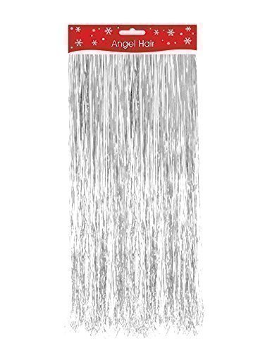 silver christmas xmas decoration angel hair tinsel shredded tinsel decorate tree