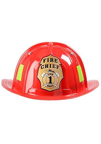 Girls Fireman Costumes (Aeromax Jr. Firefighter Helmet, Red, Adjustable Youth Size)