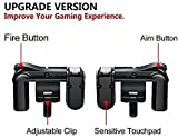 Fortnite PUBG Mobile Controller, Sensitive Shoot and Aim Buttons L1&R1 for PUBG/Fortnite/Knives Out/Rules of Survial, Cell Phone Gams of Survial, Cell Phone Game Controller for Android iOS (1 Pair)