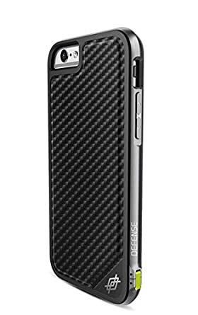 new products 349b3 0ce78 iPhone 6s/6 X-Doria Defense Lux [Military Grade Drop Tested] TPU & Aluminum  Premium Protective Case, Black Carbon Fiber