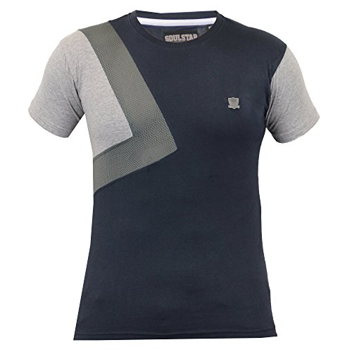 Herren Kurzärmelig Netz T-shirts Von Soul Star - Marineblau - ROGUEPKA, XL