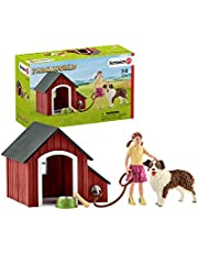 Schleich Farm World, Animal Toys for Girls and Boys Ages 3-8, 5-Piece Playset, Dog Kennel