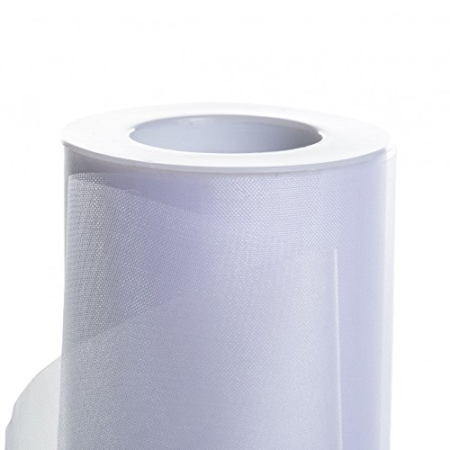 White Sheer Organza - Koyal Wholesale 25-Yard Sheer Organza Fabric Roll, 6-Inch, White