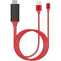 Alfais 4308 Lightning Hdmi Çevirici Dönüştürücü Tv Televizyon Kablosu, iPhone 5 6 7 8 X Plus için