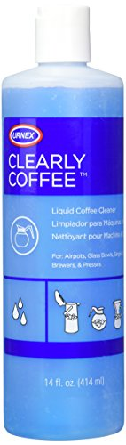 Urnex Clearly Coffee Pot Cleaner 14 Ounce (Made in the USA) French Press Liquid Cleaner for Glass Bowls Airpots Satellite Brewers and Thermal Servers Removes Coffee -