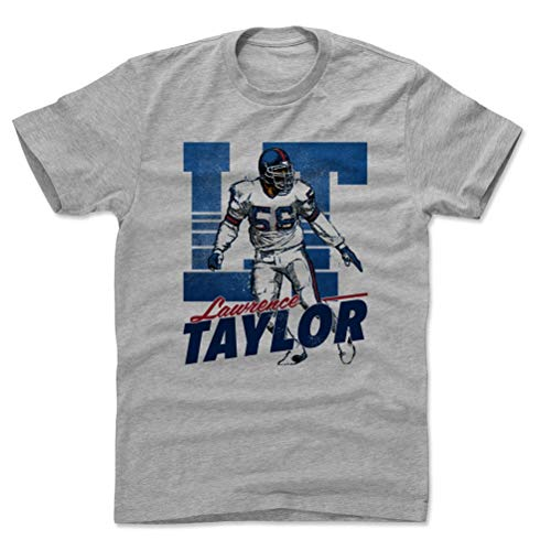 500 LEVEL Lawrence Taylor Cotton Shirt (XX-Large, Heather Gray) - New York Giants Men's Apparel - Lawrence Taylor Retro B